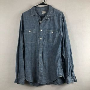 JCREW blue Medium button down long sleeve